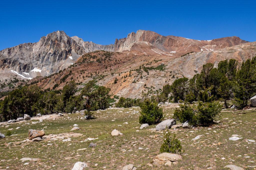 rote Berge beim Pinchot Pass