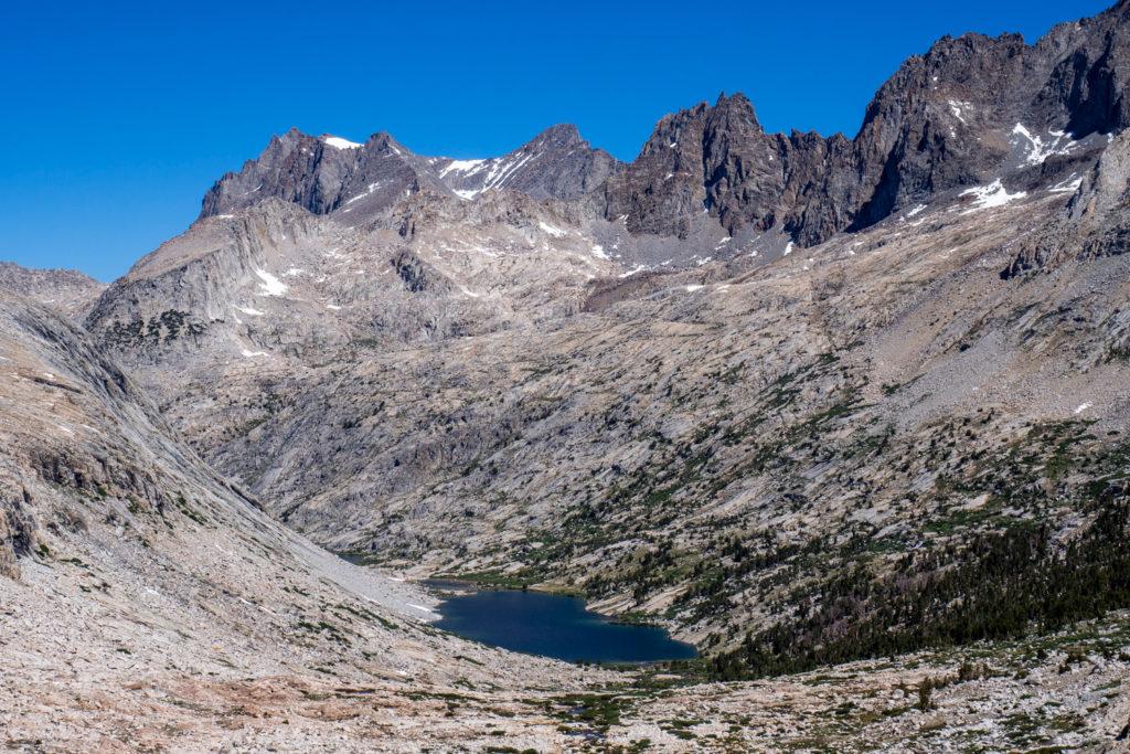 Blick vom Mather Pass auf die Palisade Lakes