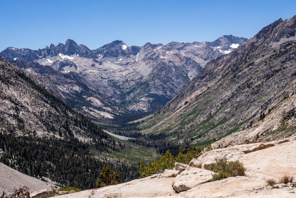 Abstieg über die golden Staircase ins Palisade Creek Valley