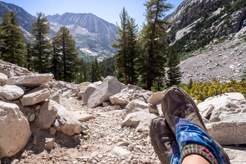 Pause auf dem Trail zum Muir Pass