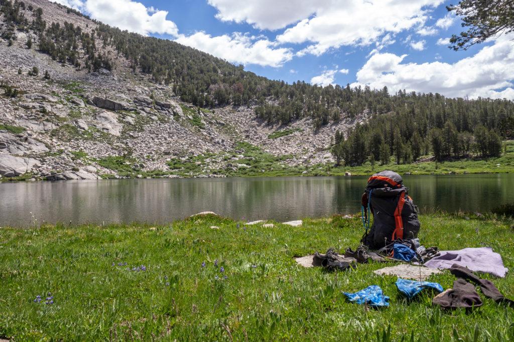 Badepause an den Sally Keyes Lakes