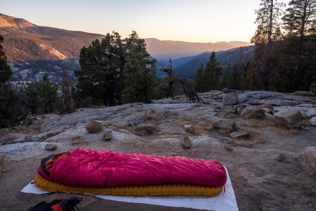 Der Campground mit Aussicht auf der Bear Ridge