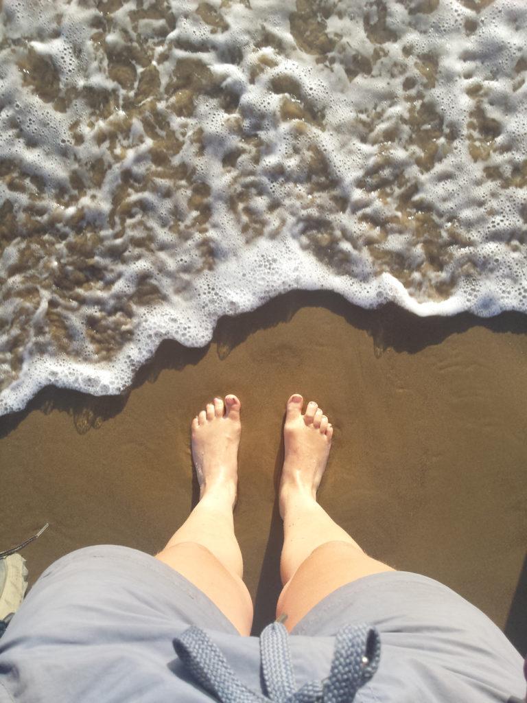 Endlich die Füße in den Pazifik strecken