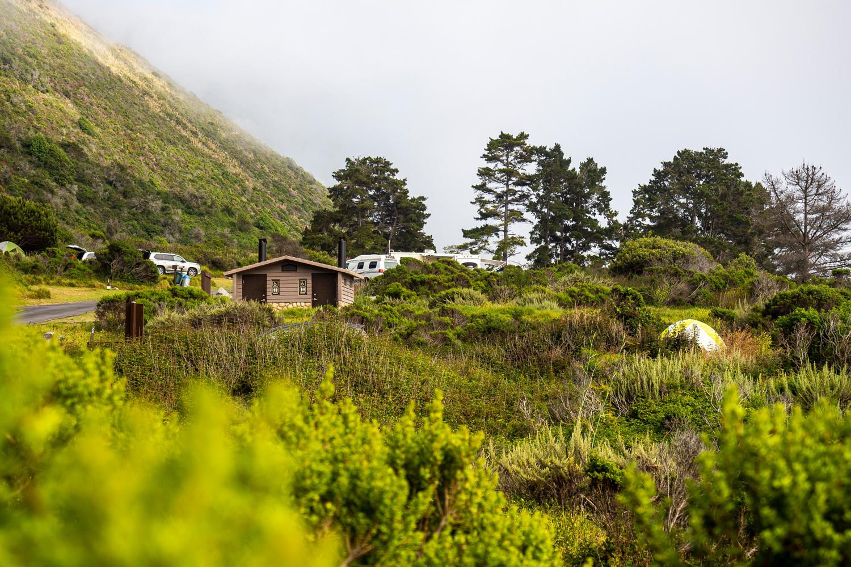 Der idyllische Kirk Creek Campground am Highway No. 1
