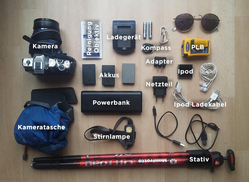 Meine Ausrüstung für den PCT & JMT: Elektronik