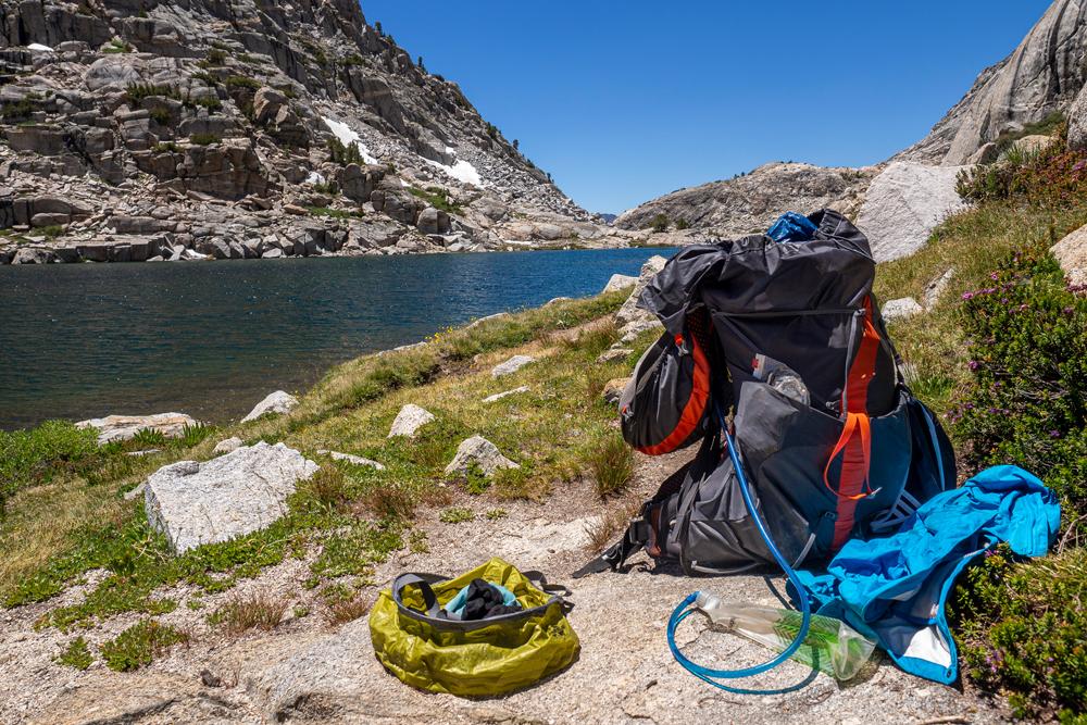An den Palisade Lakes auf dem John Muir Trail und Pacific Crest Trail