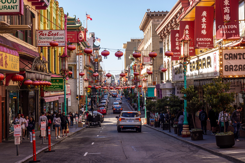 Touristisches China Town in San Francisco