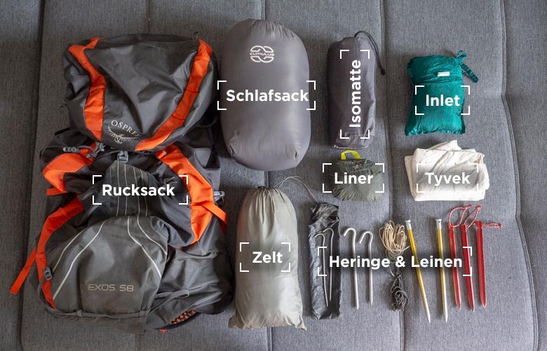 Meine Ausrüstung für den PCT & JMT: Shelter und Schlafen