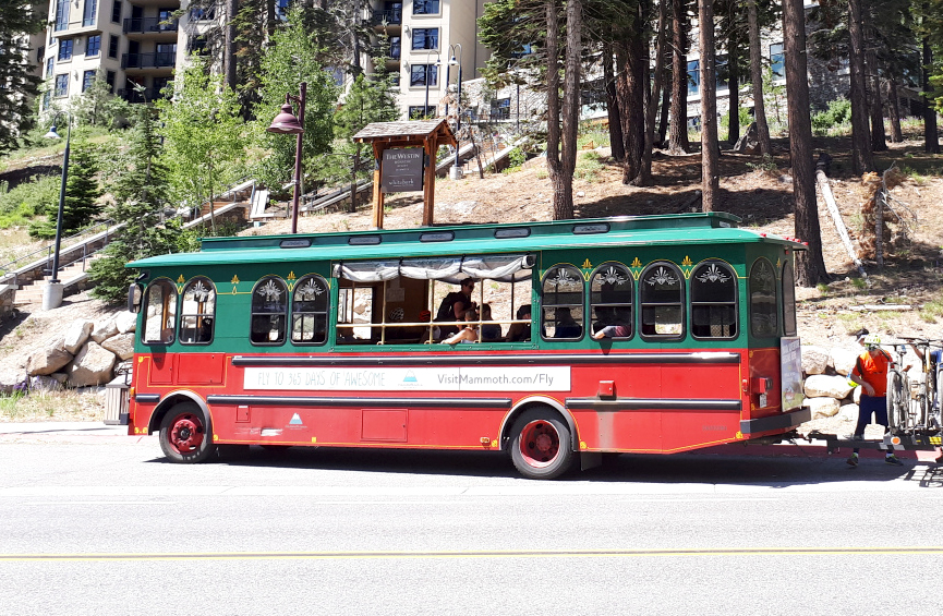 Die Busse in Mammoth Lakes