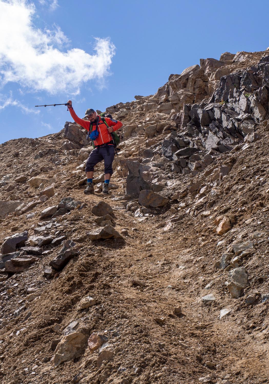 Abstieg vom Ala-Kol-Pass