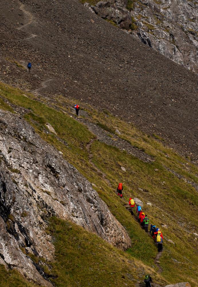 Aufstieg zum Ala-Kol-Pass