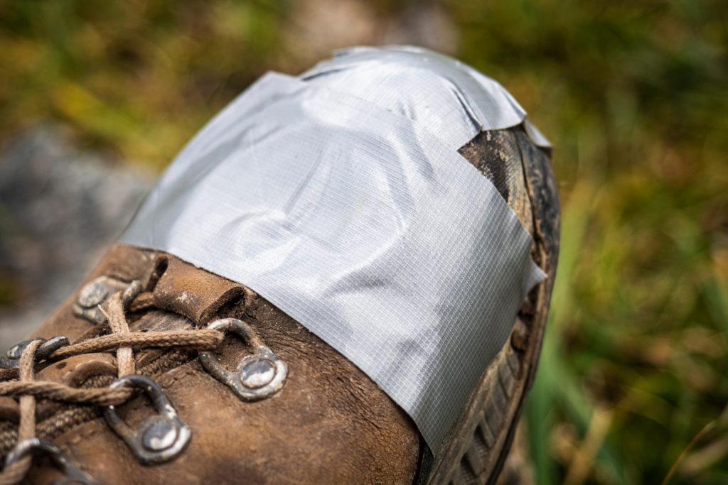 kaputter Schuh auf der Terske-Alatau-Traverse