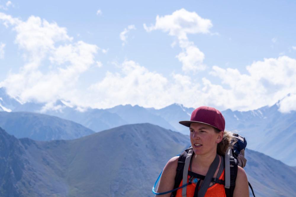 Aussicht vom Aschuu-Tor-Pass